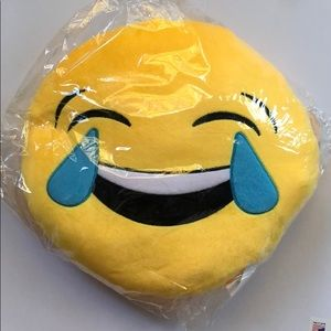 Other - Laughing emoji smiley pillow NEW
